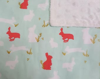 Bunnies Glitter Baby Blanket - Perfect Baby Shower Gift