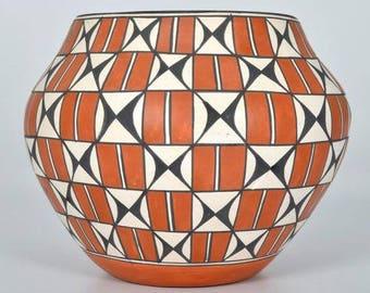Native American, Acoma Poly Chrome Pottery Olla, Loretta Garcia (Acoma, B. 1956) #1197