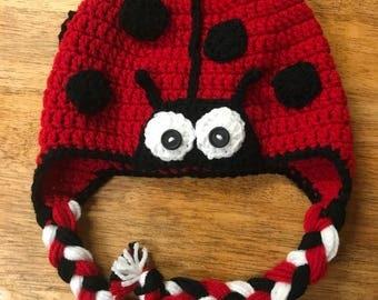 Crochet Lady Bug Hat