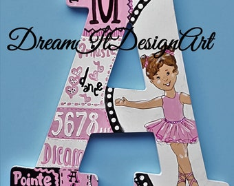 Dance Wall Letters -- Custom Hand Painted Wooden Letters -- Price Per Letter