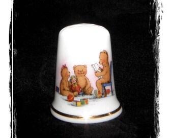Vintage Porcelain Thimble Fine Bone China Regal Etruria  Beer Read Aloud