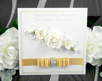 Luxury Handmade Anniversary Card / Luxury Birthday Card / Luxury Valentines Card / Personalisable / Choice of Colours / Made to Order