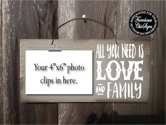 All You Needs Is Love And Family Photo Holder