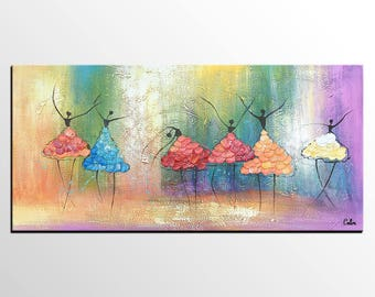 Ballet Dancer Painting, Abstract Art, Large Painting, Canvas Painting, Canvas Wall Art, Original Acrylic Painting, Modern Art, Impasto Art