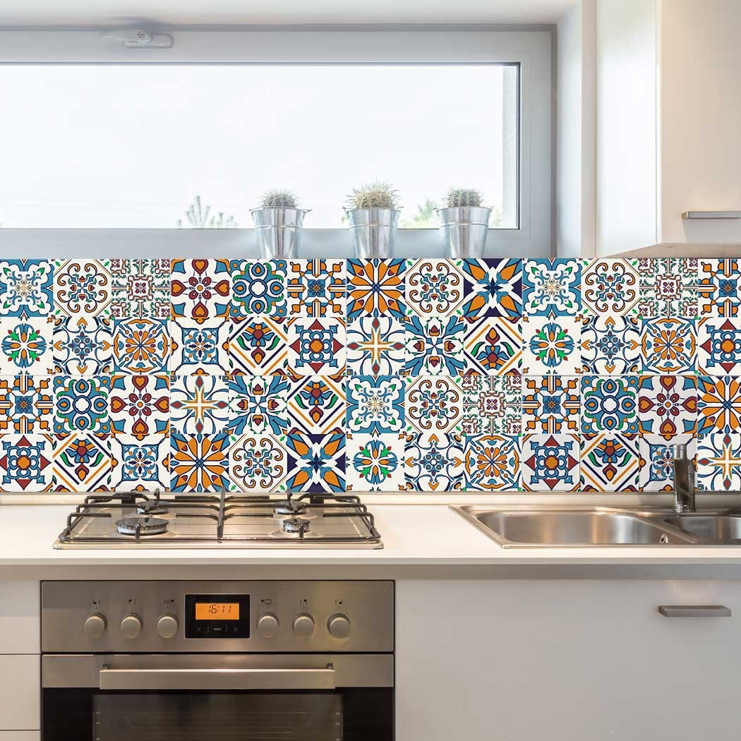 tile stickers kitchen decorative tiles stickers motril pack of 16 tiles tile 2776