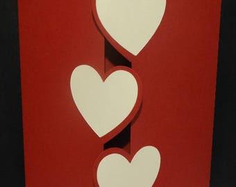 Invitation card 3 heart closure