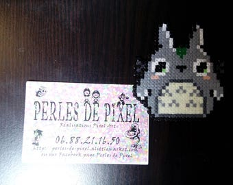 Totoro mini Hama pixel art achievement