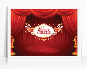Circus Backdrop - Printable