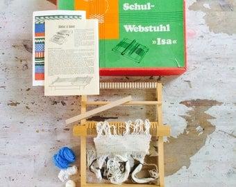 Loom | vintage loom | webstuhl| weefraam| weaving|vintage weaving| weavingloom small| weefgetouw| 70's weaving| including beautiful old box