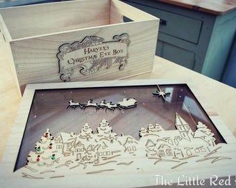 Wooden pine luxury Christmas Eve Box
