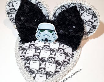Star Wars Storm Trooper Teardrop Retro Dapper Mouse Ears Fascinator Hat