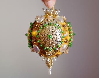 Vintage Pin Sequin Christmas Ornament