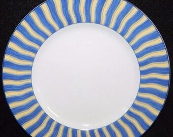 ON SALE Noritake SUMMER Waves 4096 Salad Plate, Impromptu Line, Fine Porcelain, Excellent Condition