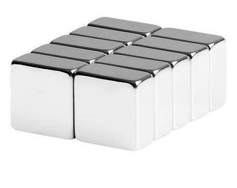 1/2 x 1/2 x 1/4 Inch Strong Neodymium Rare Earth Block Magnets N42 (10 Pack)