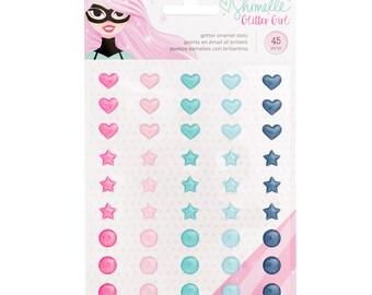 Shimelle glitter girl enamel dots