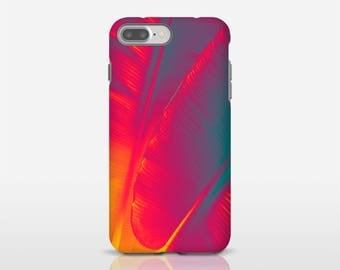 Red Leaf Art Cell Phone Case, Banana Leaf Art, iPhone X Cases, Galaxy S7 Case, Designer Phone Cases, Smartphone Case