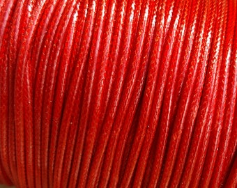 Purchase by the Roll - Korean 2mm Wax Polyester Cord, Approx. 100yards/roll - Fire Brick - Australian Seller