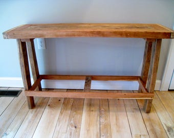 Console table Hall Sofa Rustic solid wood pegged