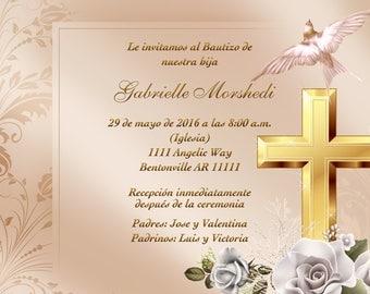 Baptism Invitations, invitaciones de bautizo, christening, christening invitaitons, bautizo, invitaciones bautizo, invitaciones, Gold Cross