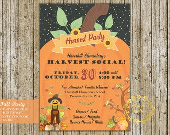 harvest party flyers