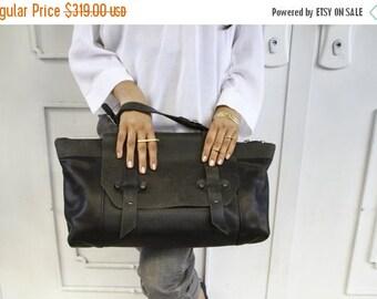 Black Leather Tote Bag  / Women Purse / Camel Leather Handbag / Lined Crossbody Bag / Shoulder Bag / Boho Chic Bag / Top Handle Bag - Galaxy