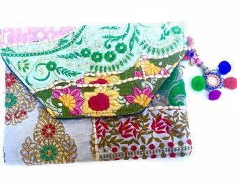 Banjara Bags, Boho Clutch, Gypsy Clutch, Travel Gift, Banjara Clutch, iPad Case, Vintage Bag, Boho Bag, Silk Purse, Bridal Purse, Gift Ideas