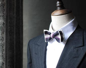 Stripes Bowtie -Men Bowtie Modern Boys Bowtie, Toddler Bowtie Toddler Bow tie,Pre Tied and Adjustable