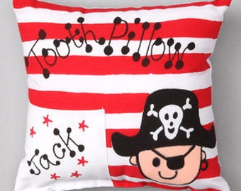 Personalized Pirate Tooth Fairy Pillow