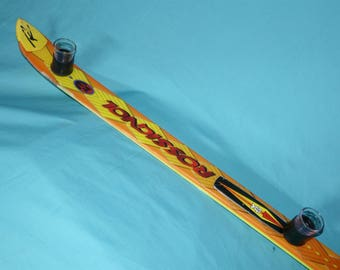 Vintage ROSSIGNOL Viper-Z 4-Person SHOTSKI Shot Ski Handcrafted in Colorado! Bar Mancave Party Tailgate Drinking Game B-Day w/ Shot Glasses!