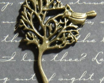 Big Bird and tree-tone charm bronze 32x41mm