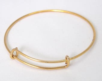 Bracelet adjustable 67mm gold metal holder