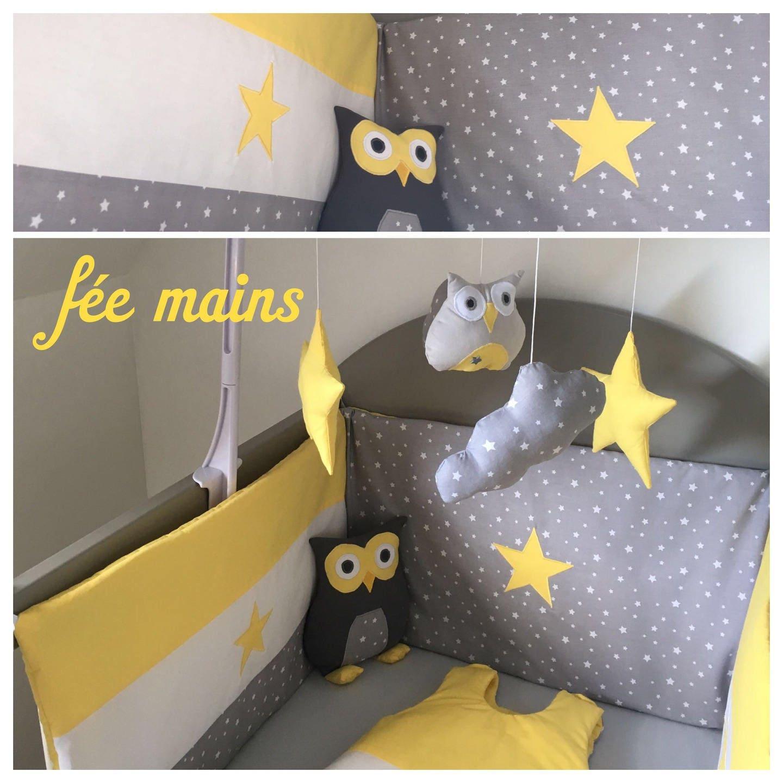 tour de lit en coton gris imprim toiles blanchesblanc et. Black Bedroom Furniture Sets. Home Design Ideas