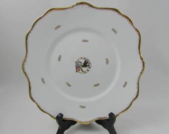 "Royal Stafford ""Rebekah"" Serving Plate, Vintage Plate, Dinner Plate, Square Plate"