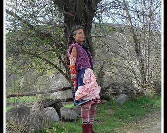 ethnic patchwork summer skirt