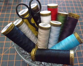 Gutermann sewing thread 12 pack in popular colours  150M x 12 Rolls Free Shipping Australia