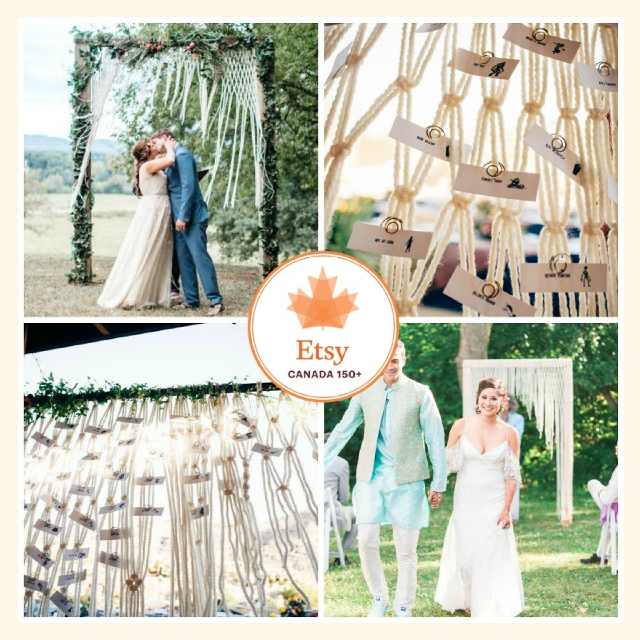 Wedding Altar Etsy: Macrame Altar Hanging For Rustic Outdoor Wedding Ceremony