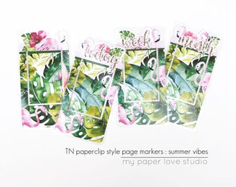 TN Traveler Notebook Page Markers / Planner Kit Collection : Summer Vibes