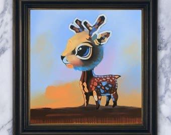 Deer  - Original Acrylic Painting