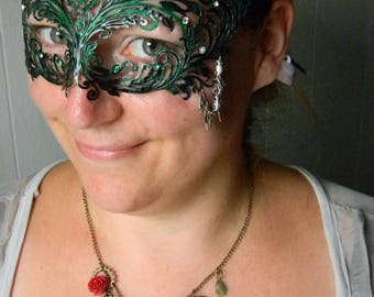 Steampunk Poison Ivy Mask and Necklace