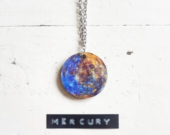 Mercury Necklace // Planet Necklace // Planet Jewelry // Space Necklace // Solar System