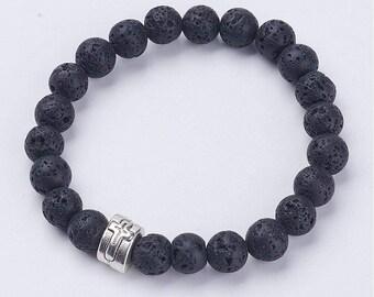 Natural Lava Stone Diffuser Bracelet - Cross