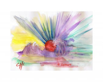 """Acrylic paint and gouache abstract and symbolic """"Explosion"""""""