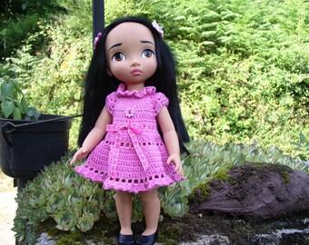 Pink crochet for Disney animator doll dress