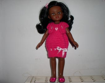 Pink doll dress crochet with the bolero
