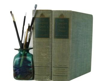 SALE SALE SALE Green vintage  Books , Vintage Book Bundle ,  Decorative Books , Wedding Prop, Photo Prop , Vintage Books , Old Books, Greek