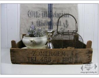 BELGIUM antique wooden box
