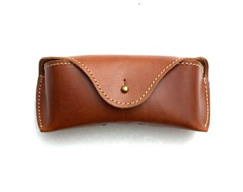 Glasses Soft Case Vegetable tanned leather Handmade personalized