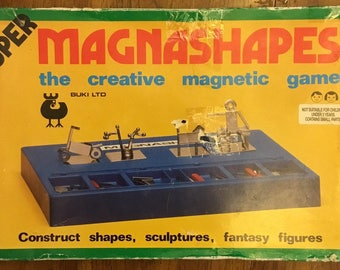 Super Magnashapes The Creative Magnetic Game Construct Shapes, Sculptures, Fantasy Figures Circa 1970's