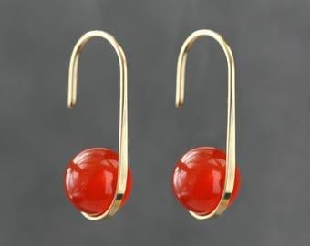 Onyx silver earrings, non-allergic, handmade