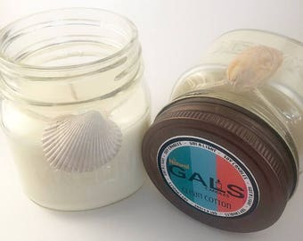Clean Cotton 8oz Mason Jar Soy Wax Organic Candle